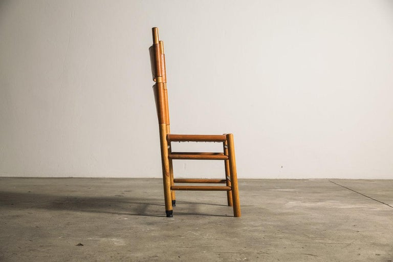 20th Century Set of Six Kentucky Chairs by Carlo Scarpa for Bernini For Sale