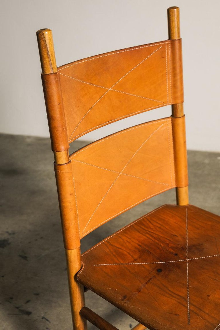 Set of Six Kentucky Chairs by Carlo Scarpa for Bernini For Sale 3