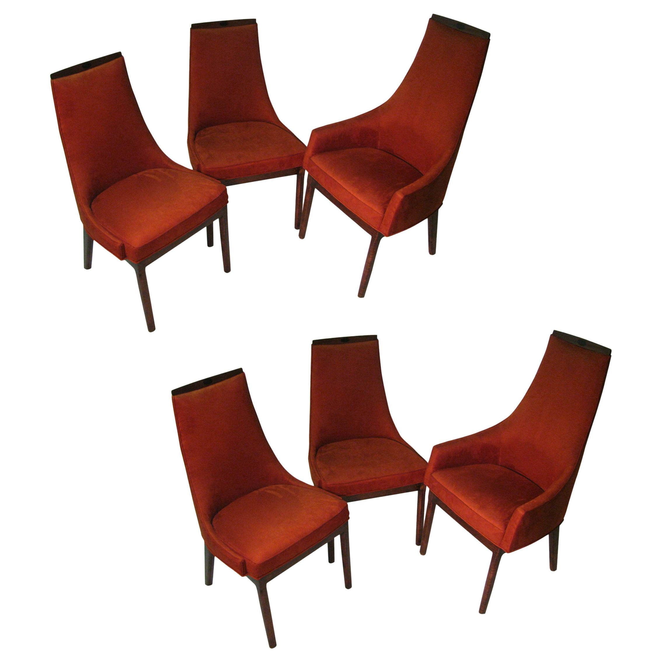 Set of Six Kipp Stewart Mid-Century Modern Dining Room Chairs