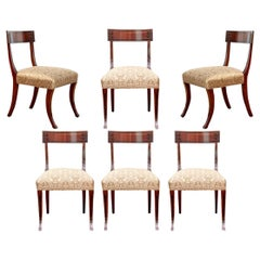 Set of Six Klismos Style Mahogany Chairs from Jasper by Michael Smith