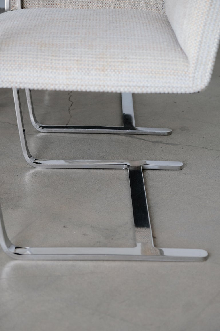 Set of Six Knoll Brno Flat Bar Dining Chairs Mies Van Der Rohe For Sale 2