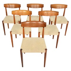 Set of Six Knud Faerch Model 343 Danish Modern Dining Chairs in Rosewood