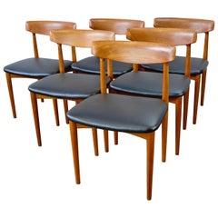 Set of Six Knud Faerch Model 532 Dining Chairs in Teak