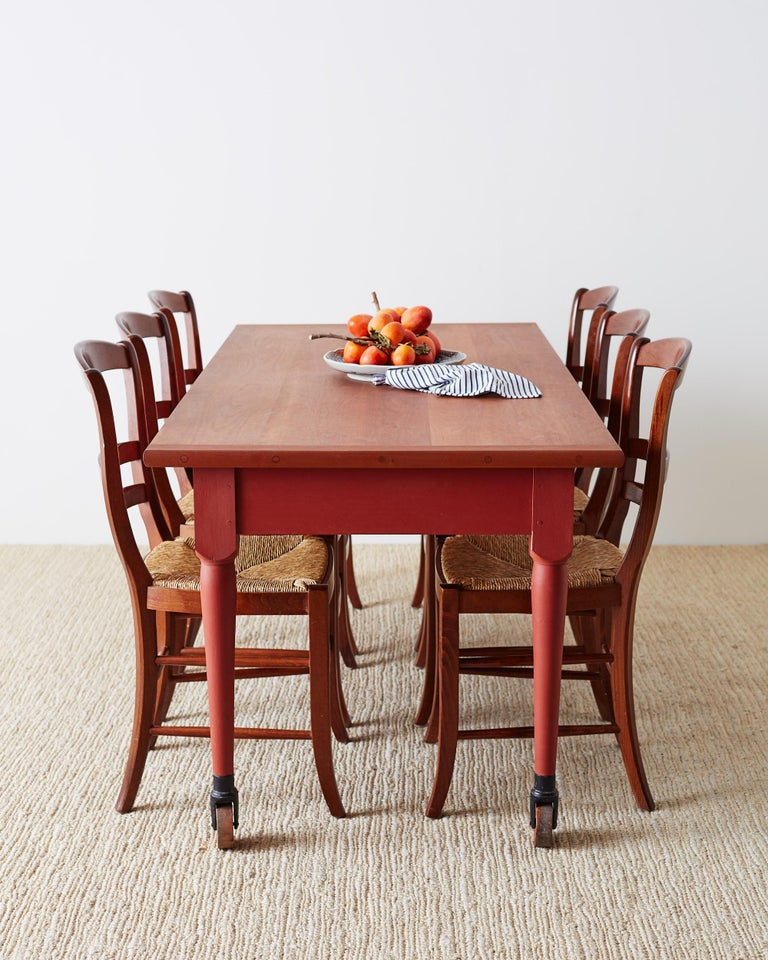Swell Set Of Six Ladder Back Rush Seat Dining Chairs Beutiful Home Inspiration Cosmmahrainfo
