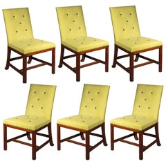 Antique Set of Six Large Chippendale Dining Chairs