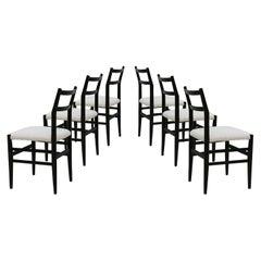 "Set of Six ""Leggera"" Designed by Gio Ponti Chairs, Italy, 70s"