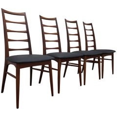 Set of Six Lis Dining Chair in Teak by Niels Koefoeds for Koefoeds Møbelfabrik