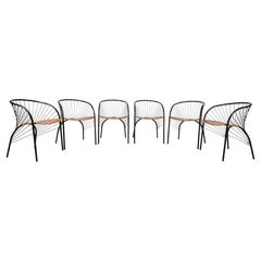 Set of Six 'Lizie' Dining Chairs for Pallucco by Regis Protiere, Italy, 1984