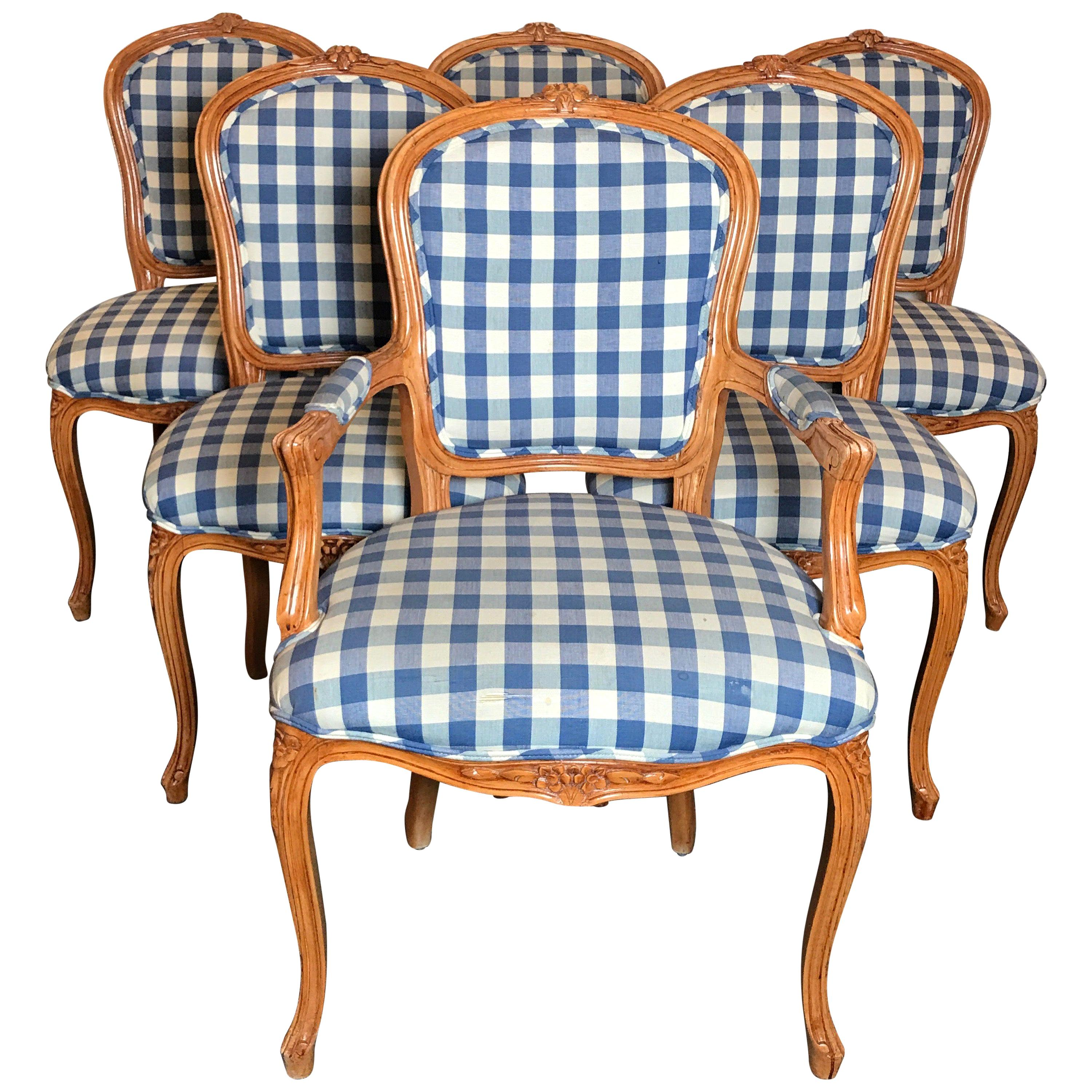 Set of Six Louis XV Dining Chairs