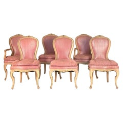 Set of Six Louis XVI Style Painted Dining Chairs