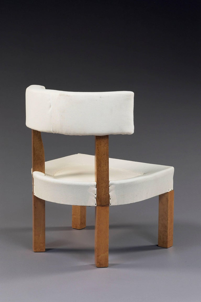 Art Deco Set of Six Low Chairs by André Lurcat, circa 1927 For Sale