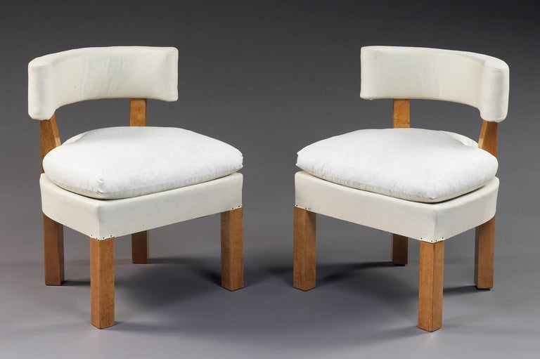 French Set of Six Low Chairs by André Lurcat, circa 1927 For Sale