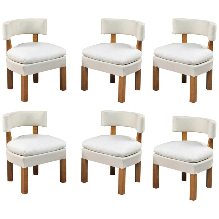 Set of Six Low Chairs by André Lurcat, circa 1927 For Sale