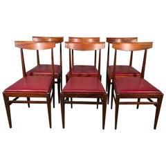Set of Six Luxury Chairs Vittorio Dassi Lissone Rosewood