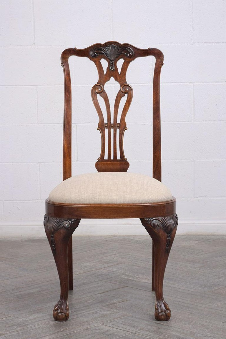 English Set of Mahogany Regency Dining Chairs For Sale