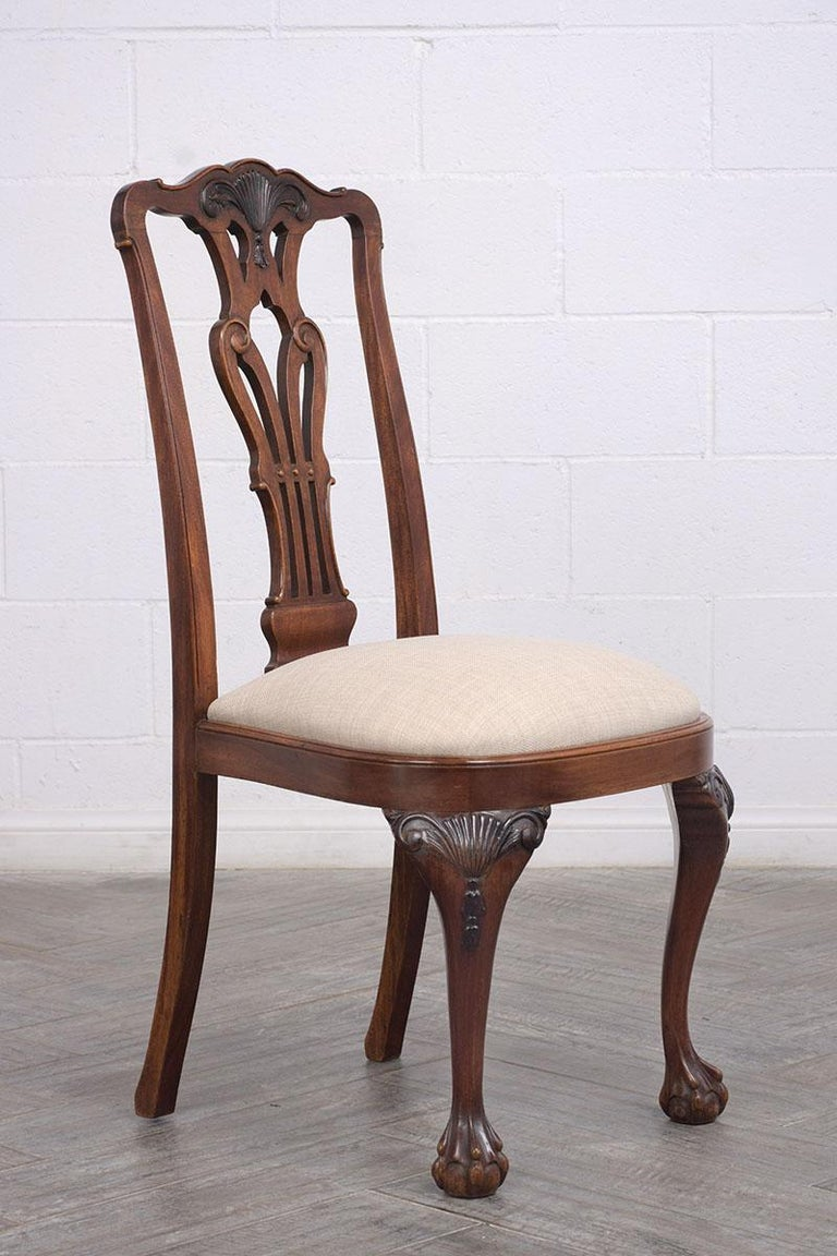 Set of Mahogany Regency Dining Chairs In Good Condition For Sale In Los Angeles, CA