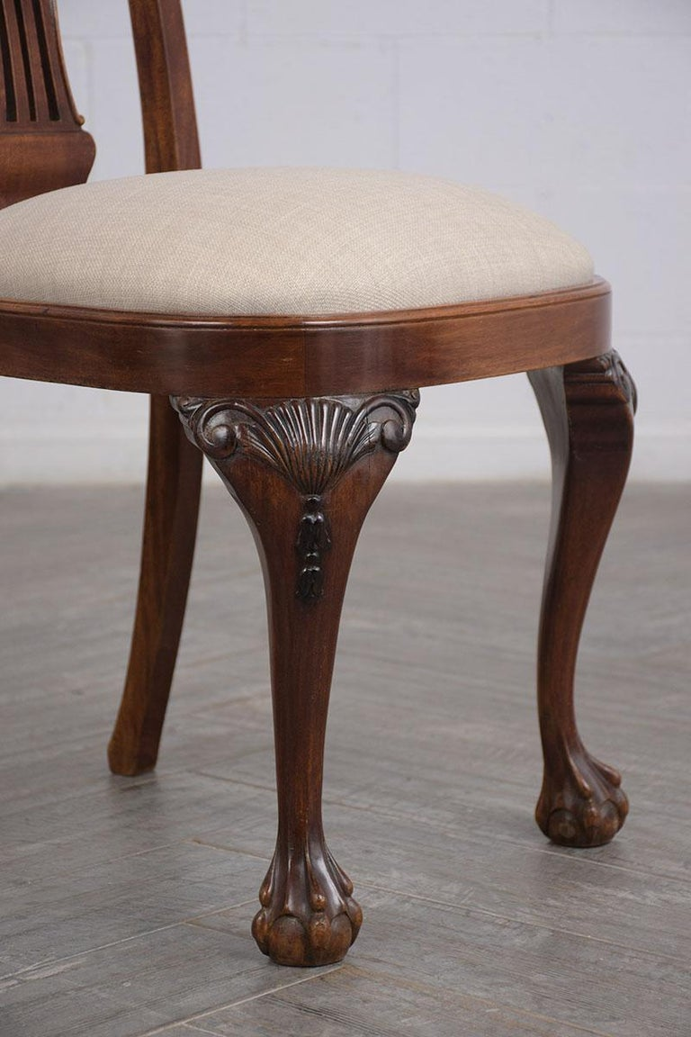 Early 20th Century Set of Mahogany Regency Dining Chairs For Sale