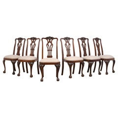 Set of Six Mahogany Regency Style Dining Chairs