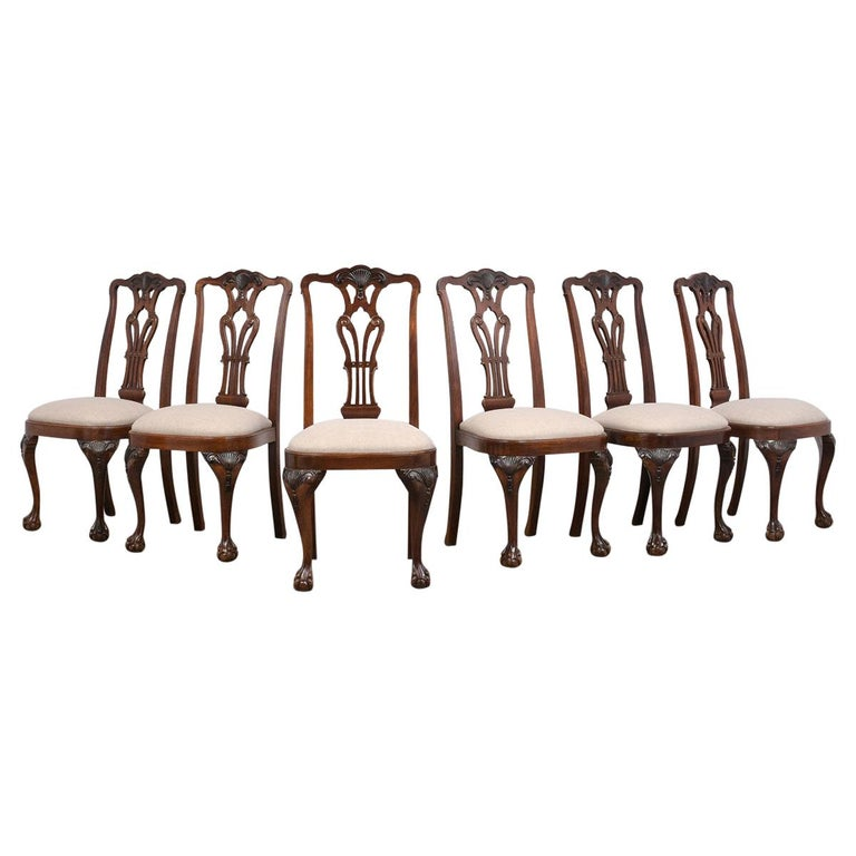 Set of Mahogany Regency Dining Chairs For Sale