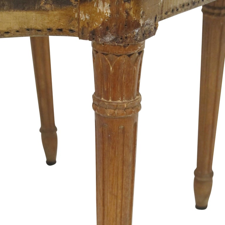 French Set of Six Maison Jansen Balloon Back Dining Side Chairs, Early 20th Century For Sale