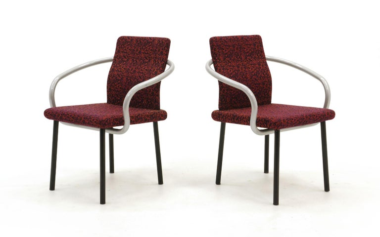 American Set of Six Mandarin Dining Chairs by Ettore Sottsass for Knoll For Sale