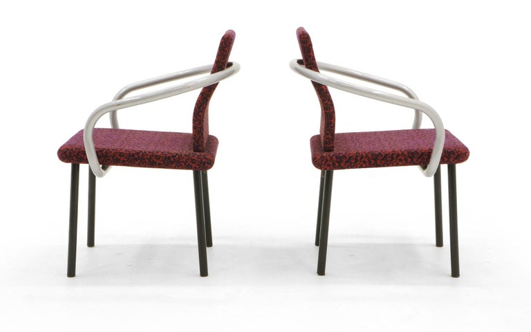 Set of Six Mandarin Dining Chairs by Ettore Sottsass for Knoll In Good Condition For Sale In Kansas City, MO