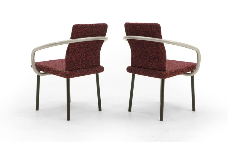 Late 20th Century Set of Six Mandarin Dining Chairs by Ettore Sottsass for Knoll For Sale