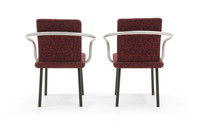 Steel Set of Six Mandarin Dining Chairs by Ettore Sottsass for Knoll For Sale