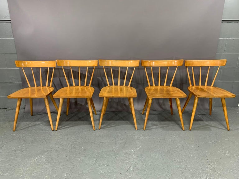 Mid-Century Modern Set of Six Maple Dining Chairs by Paul McCobb for Winchendon/Planner Group For Sale