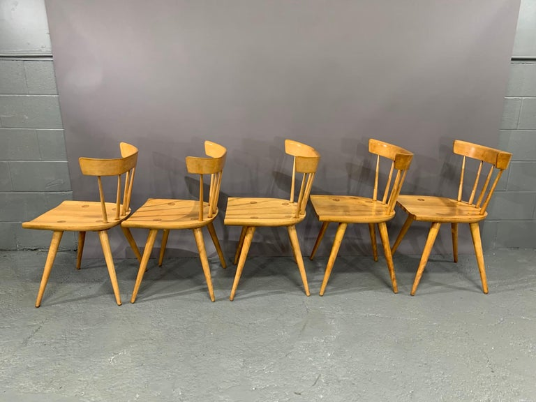 American Set of Six Maple Dining Chairs by Paul McCobb for Winchendon/Planner Group For Sale