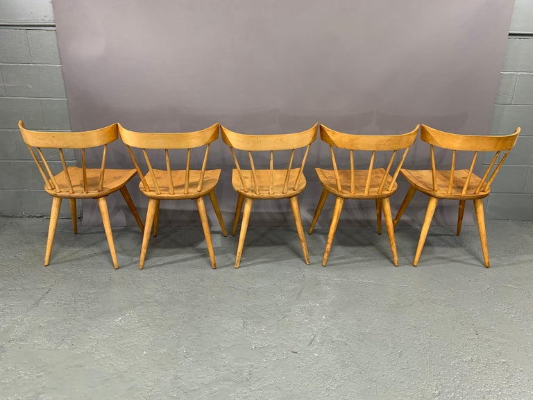 Set of Six Maple Dining Chairs by Paul McCobb for Winchendon/Planner Group In Good Condition For Sale In Belmont, MA