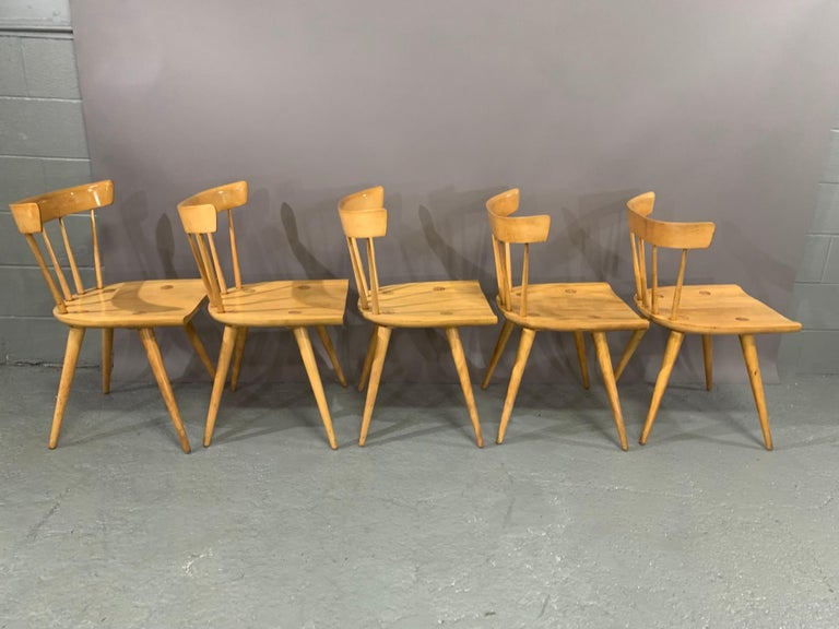 Mid-20th Century Set of Six Maple Dining Chairs by Paul McCobb for Winchendon/Planner Group For Sale