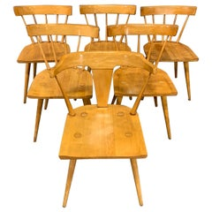 Set of Six Maple Dining Chairs by Paul McCobb for Winchendon/Planner Group