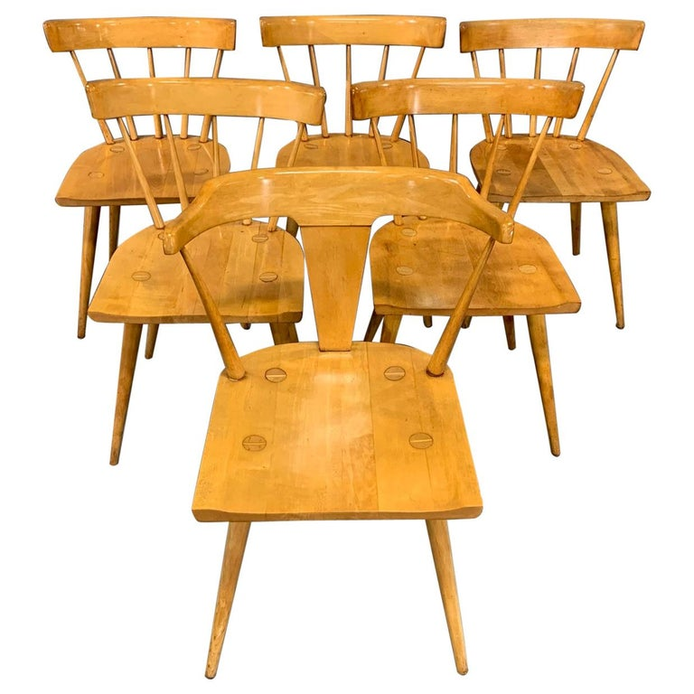 Set of Six Maple Dining Chairs by Paul McCobb for Winchendon/Planner Group For Sale