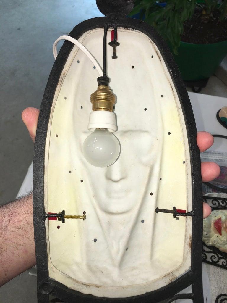 Set of Six Marcel Bever Art Deco Mask Wall Lights For Sale 6