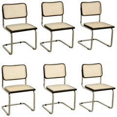 Set of Six Marcel Breuer Cesca Chairs, circa 1970