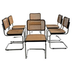 Set of Six Marcel Breuer Cesca Chairs, circa 1970