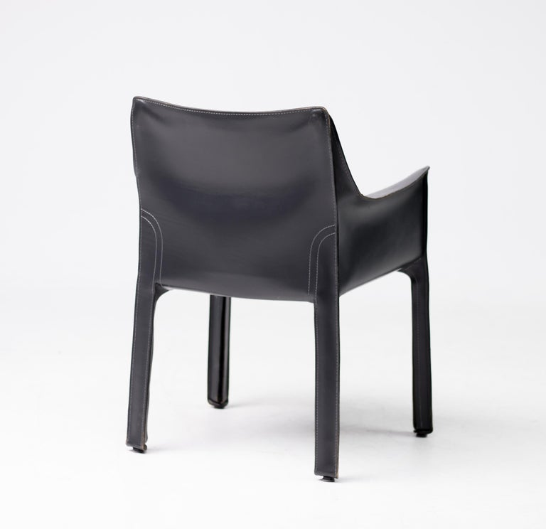 Set of Six Mario Bellini Cab Chairs for Cassina For Sale 3