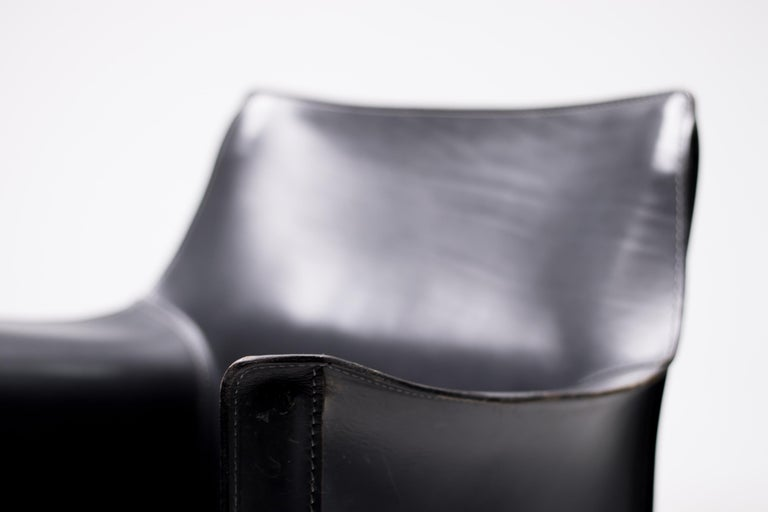 Set of Six Mario Bellini Cab Chairs for Cassina For Sale 5