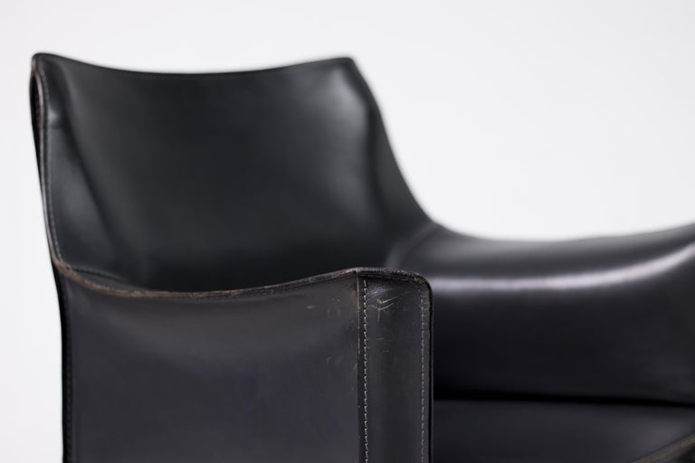 Set of Six Mario Bellini Cab Chairs for Cassina In Good Condition For Sale In Dronten, NL