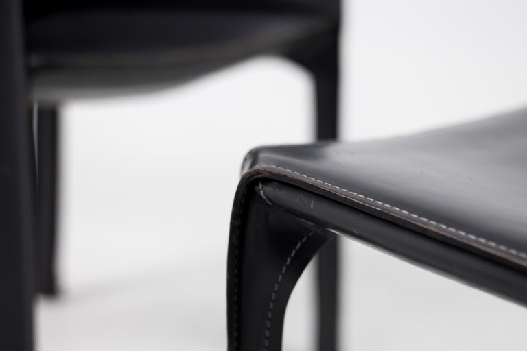 Late 20th Century Set of Six Mario Bellini Cab Chairs for Cassina For Sale