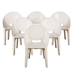 "Set of Six Mario Bellini ""Lira Liuto"" Dining Chairs for Cassina"