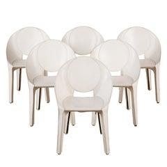 "Set of Six Mario Bellini ""Lira Liuto"" Dining Chairs for Cassina"