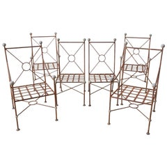 Set of Six Mario Papperzini for Salterini Style Garden Chairs