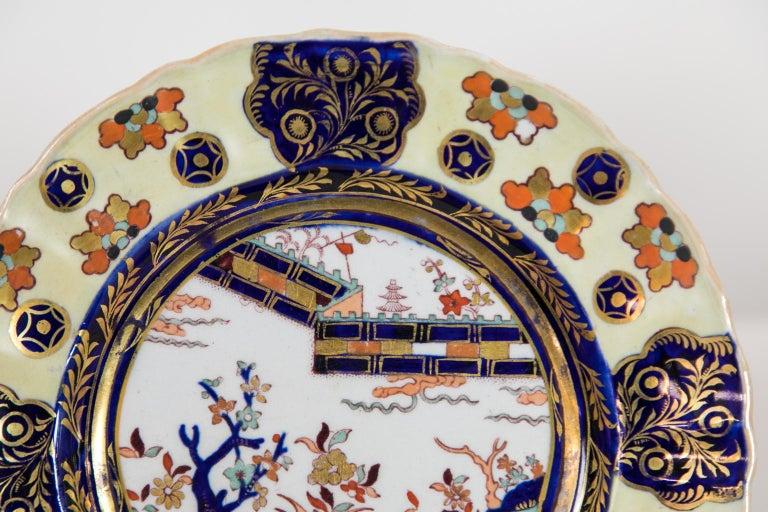 Mid-19th Century Set of Six Mason's Ironstone Dinner Plates For Sale