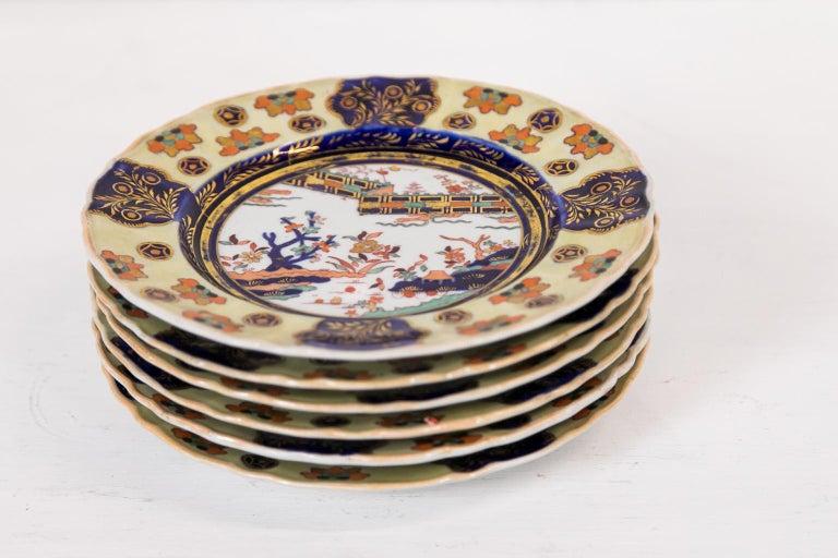Set of Six Mason's Ironstone Dinner Plates For Sale 1