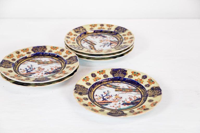 Set of Six Mason's Ironstone Dinner Plates For Sale 2