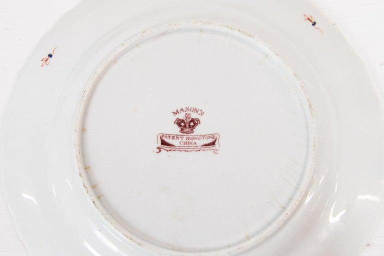 Set of Six Mason's Ironstone Dinner Plates For Sale 3