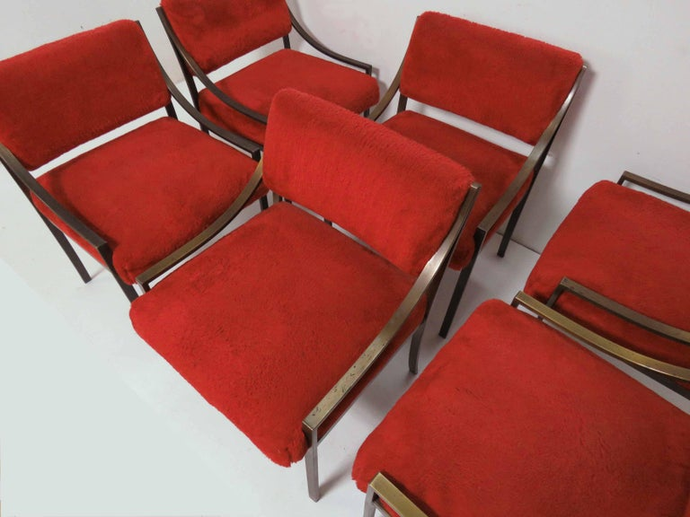 American Set of Six Mastercraft Style Dining Chairs, circa 1970s For Sale