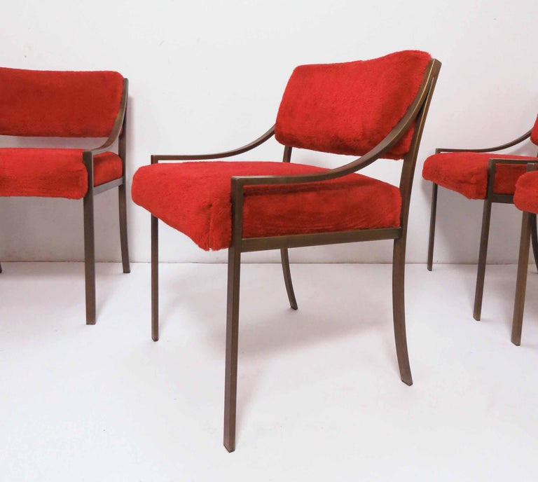 Late 20th Century Set of Six Mastercraft Style Dining Chairs, circa 1970s For Sale